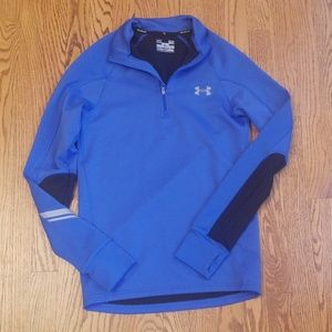 Blue Under Armour fitted running jacket S
